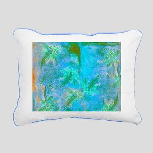 Opal Dragonfly Flight Rectangular Canvas Pillow