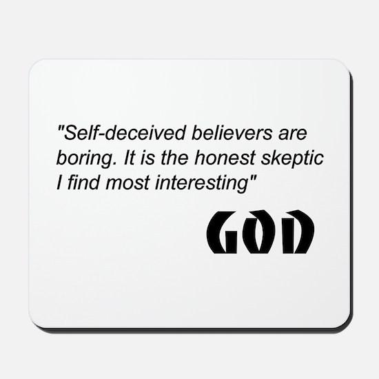 Religion belief Mousepad