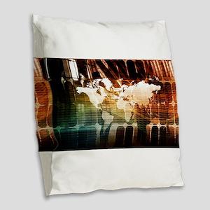 Global Management Burlap Throw Pillow