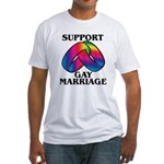 SUPPORT GAY MARRIAGE Fitted T-Shirt