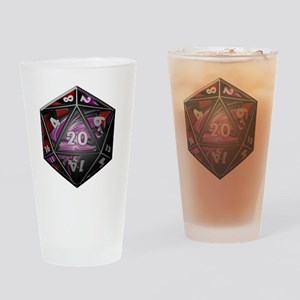 D20 plastic Drinking Glass
