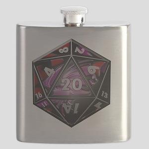 D20 plastic Flask