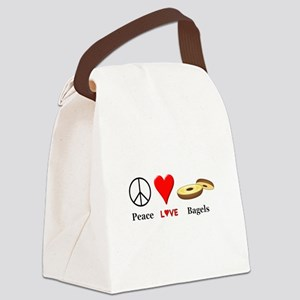 Peace Love Bagels Canvas Lunch Bag