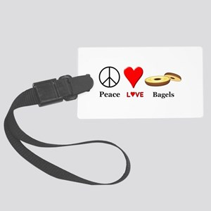 Peace Love Bagels Large Luggage Tag