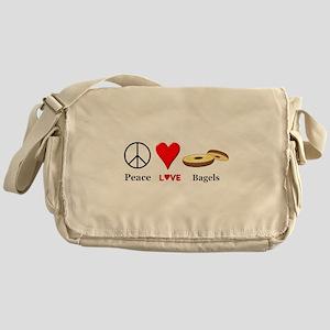 Peace Love Bagels Messenger Bag