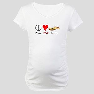Peace Love Bagels Maternity T-Shirt