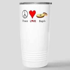 Peace Love Bagels Stainless Steel Travel Mug