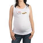 I Love Bagels Maternity Tank Top