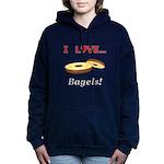 I Love Bagels Women's Hooded Sweatshirt
