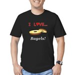 I Love Bagels Men's Fitted T-Shirt (dark)