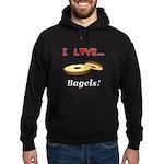 I Love Bagels Hoodie (dark)