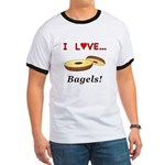 I Love Bagels Ringer T