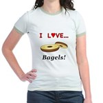 I Love Bagels Jr. Ringer T-Shirt