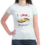 I Love Bagels Jr. Ringer T-Shirt