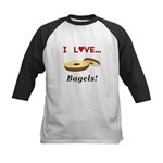I Love Bagels Kids Baseball Jersey