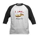 I Love Bagels Kids Baseball Jersey