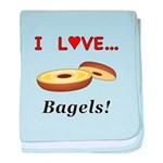 I Love Bagels baby blanket