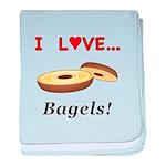 I Love Bagels baby blanket