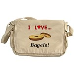 I Love Bagels Messenger Bag