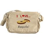 I Love Bagels Messenger Bag