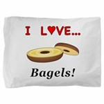 I Love Bagels Pillow Sham