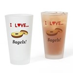 I Love Bagels Drinking Glass