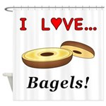 I Love Bagels Shower Curtain