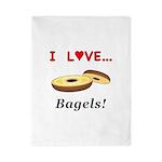 I Love Bagels Twin Duvet
