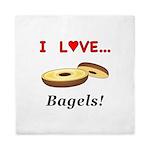 I Love Bagels Queen Duvet