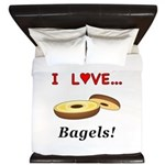 I Love Bagels King Duvet
