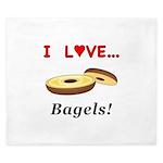 I Love Bagels King Duvet