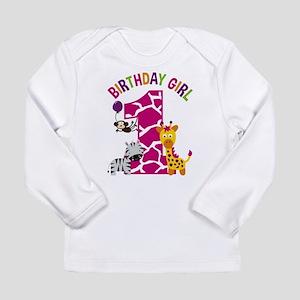 Girl Jungle 1st Birthday Long Sleeve T-Shirt