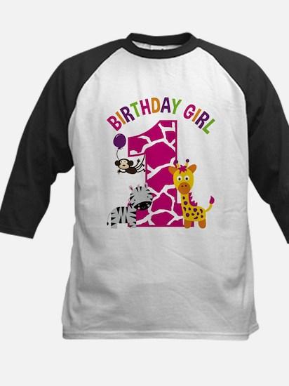 Girl Jungle 1st Birthday Baseball Jersey