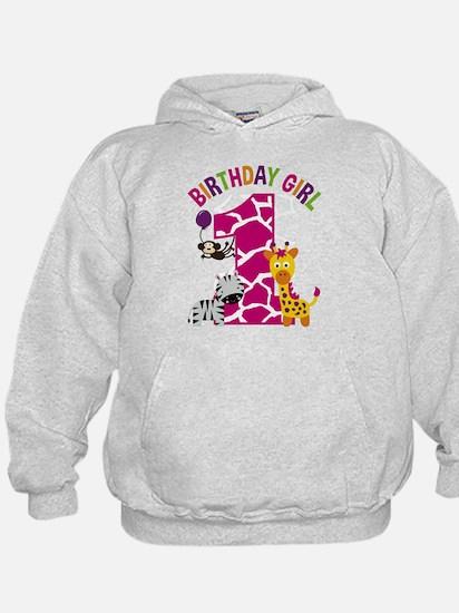 Girl Jungle 1st Birthday Sweatshirt