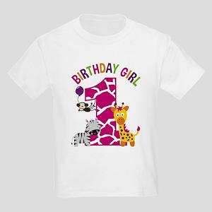 Girl Jungle 1st Birthday T-Shirt