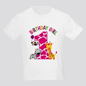 Girl Jungle 1st Birthday T Shirt