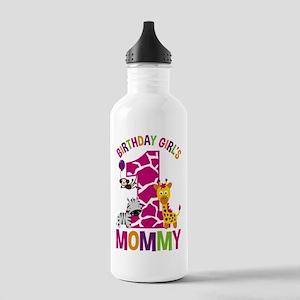 Jungle Birthday Girl's Mommy Water Bottle
