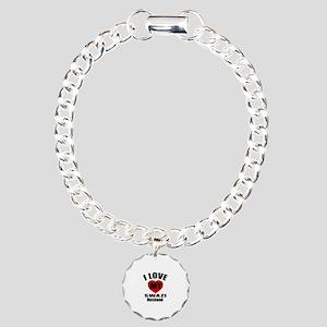 I Love My Swazi Husband Charm Bracelet, One Charm