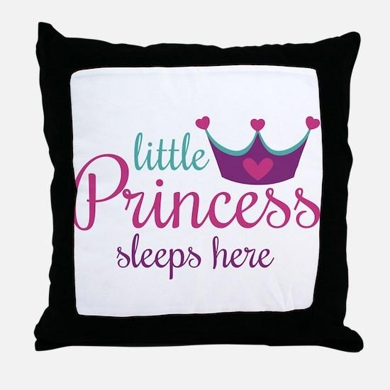 Little Princess Sleeps Here Throw Pillow