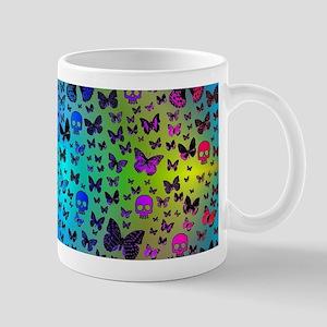 Colorful Skulls & Butterflies Mugs
