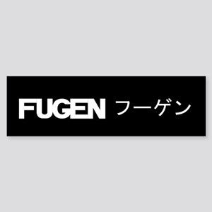 Fugen Black Bumper Sticker
