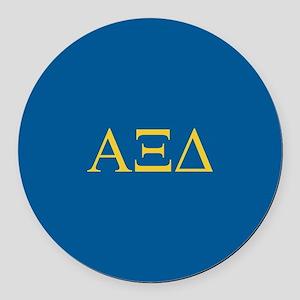 Alpha Xi Delta Letters Round Car Magnet