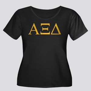 Alpha Xi Women's Plus Size Scoop Neck Dark T-Shirt