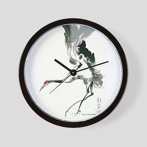 watercolor sandhill Wall Clock