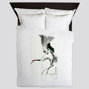 watercolor sandhill Queen Duvet