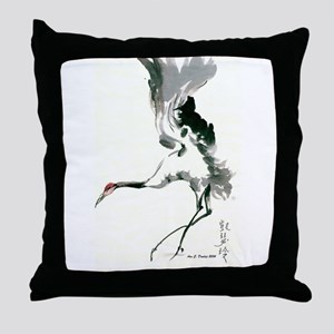 watercolor sandhill Throw Pillow