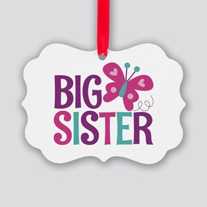 Butterfly Big Sister Ornament