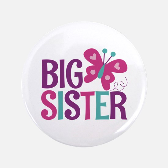 Butterfly Big Sister Button