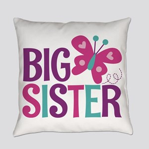 Butterfly Big Sister Everyday Pillow