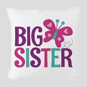 Butterfly Big Sister Woven Throw Pillow
